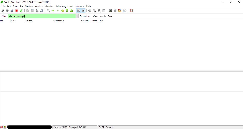 Frame type display filter returning empty - Ask Wireshark